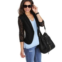Promo- Black Laced With Love Blazer