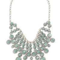 Lucky Brand Statement Necklace Womens - Medium Gray (One Size)