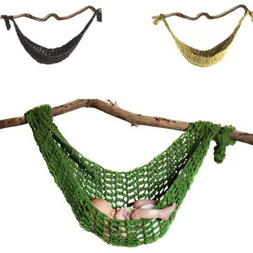 HOT!Newborn Baby Hammock Cute Crochet Knit Costume Prop Photo Photography Photo Props New Born Baby Girls Cute Outfits 7 Colors