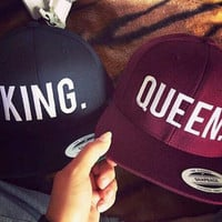 Black King, Maroon Queen Couple Hat