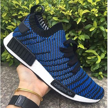 Adidas NMD R1 Stlt Spring Summer 2018 Line up Blue Running Sport Shoes Camouflage Sneakers Casual Shoes