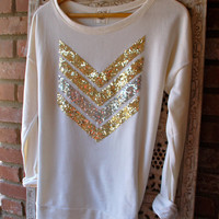 "The ""Dazzle Me Chevron"" w/ Sequin Chevron/Arrow Design Shirt - Liam Payne Tattoo"
