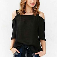 Silence + Noise Modern Blouse- Black