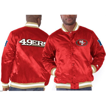 San Francisco 49ers Starter Genuine Satin Jacket – Scarlet