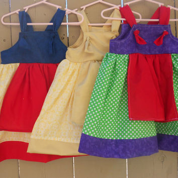 Disney Princess inspired dresses, Toddler knot dress, Everyday dress up dress, Apron dress, Dress up dress