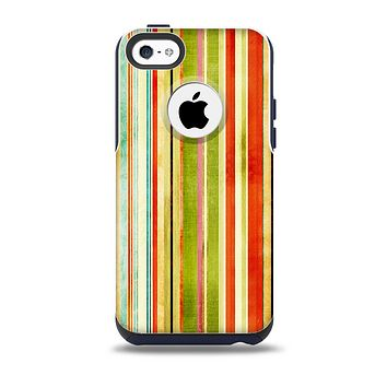 Brightly Colored Vertical Grungy Stripes Skin for the iPhone 5c OtterBox Commuter Case