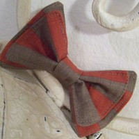 Scarlet and Gray Striped Bow Tie, Bow Tie, Doctor Who Baby, Bow Tie, Bow Ties Toddler, Newborn Bow Tie, Doctor Who, Bow Tie, Boys Bow Tie,