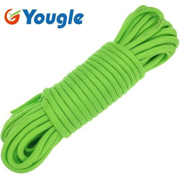 YOUGLE 15M 850 LB 11 Strands Cores Parachute Cord Paracord Lanyard Rope 6.5MM Outdoor Camping Hiking Survival Rope