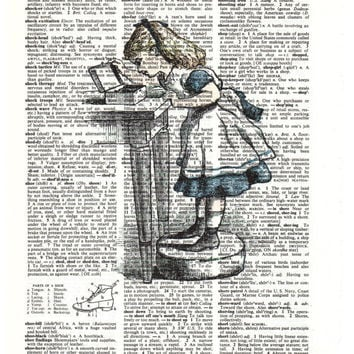 Alice In Wonderland Vintage Dictionary Print