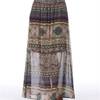 Pre-Order: Multi Color Printed Maxi Skirt