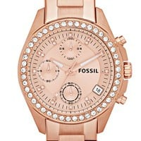Women's Fossil Crystal Topring Watch