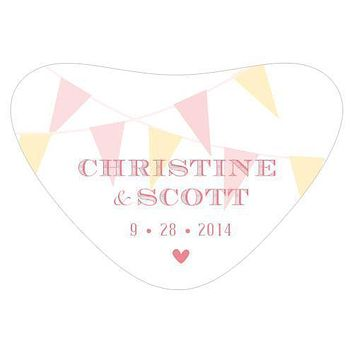 Homespun Charm Heart Container Sticker Sweet (Pack of 1)