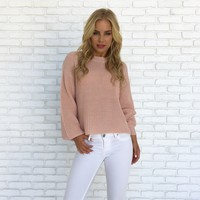 Close To You Knit Sweater in Blush