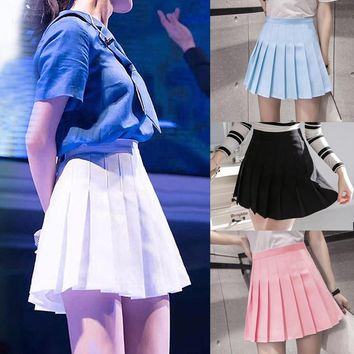New Arrival Young Pleated High Waist Mini Skirts Summer Sweet South Korean Student Skirt Japanese school uniform Hot sales