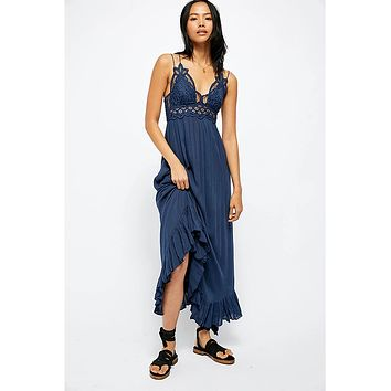 Adella Long Slip Dress Navy
