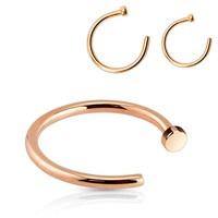 Rose Gold IP Nose Hoop Ring