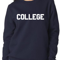 Ladies 'College' Crew Neck Sweatshirt