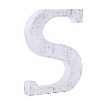 Whitewash Wooden Wall Letter