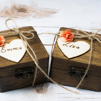 Bridesmaid Gift Box Will you be my Bridesmaid Personalized Proposal Keepsake Bridesmaids Maid of Honor Party Box