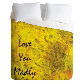 Amy Smith Love You Madly Duvet Cover