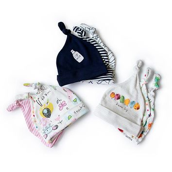 3 pieces baby boy hat 0-6M baby girl cap children accessories hats for newborn photography props baby beanies casquette enfant