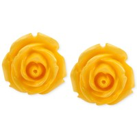 Haskell Gold-Tone Yellow Flower Stud Earrings