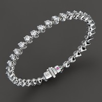 Roberto Coin 18K White Gold Diamond Line Bracelet