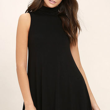 Carpe Diem Black Swing Dress