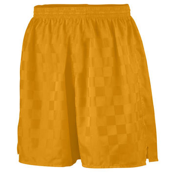 Augusta 431 Long Checkerboard Nylon Short-Youth - Gold