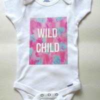 Wild Child baby Onesuit for newborn and babies 6 months, 12 months, 18 months