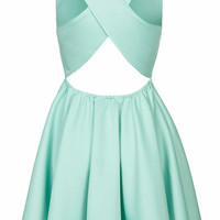 **PEEKABOO SCUBA SKATER DRESS BY JOVONNA