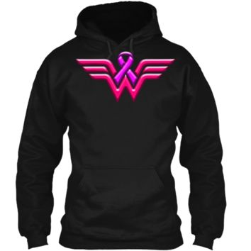 Breast Cancer Awareness T Shirt For Women Pullover Hoodie 8 oz