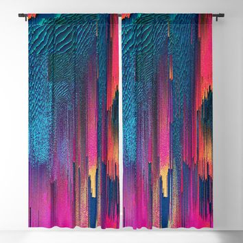 Party Puke Blackout Curtain by duckyb
