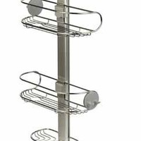 simplehuman Adjustable Shower Caddy, Stainless Steel and Anodized Aluminum