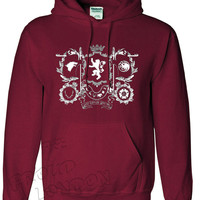 "New Games Of Thrones ""Stark,Lannister,Targaryen,Tyrell House Crest"" Inspired From Very Famous TV Series Games of Thrones  Printed Unisex Pullover Hoodie"