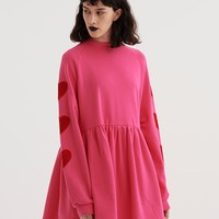 Lazy Oaf Velvet Heart Sweater Dress - View all - New In - Womens