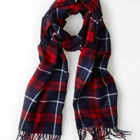 AEO 's Plaid Scarf (Red)