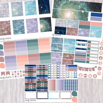 Weekly Planner Sticker Kit, Space Sticker Kit, Outer Space Sticker Kit, Weekly Stickers, Planner Stickers, Galaxy Stickers (#0200)