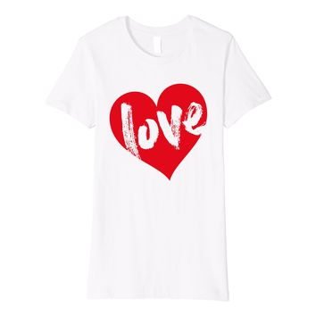 Love Heart Slim Fit Shirt by Cute Valentines Day T-Shirts