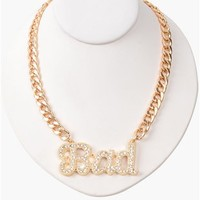 Bad Girl Necklace - Gold