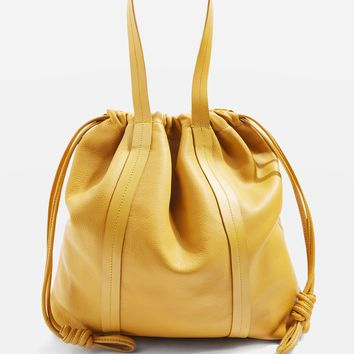 Premium Leather Drawstring Tote Bag - Limited Edition - Clothing