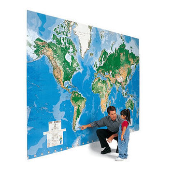 The World's Largest Write On Map Mural - Hammacher Schlemmer