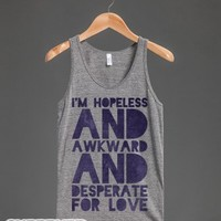 I'm Hopeless-Unisex Athletic Grey Tank