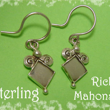 Rick Mahonski - New Age Mystic Spiral Sterling Silver Earrings - Williamsport PA Goldsmith