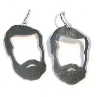Playoff Beard Earrings by jewelrynat on Etsy