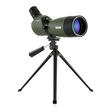 20-60x60 Telescope Waterproof Angled Spotting Scope Monocular Telescope with Tripod Carry Case for Bird Watching Traveling