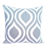 Popeven Decorative Pillow Covers Storm Gray and White 18*18inch