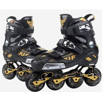 War Wolf Inline Slalom Skate Adult's Roller Skating Shoes Inline Skates Professional Patines For Street Free Skating Sliding