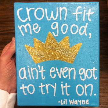 ZETA TAU ALPHA Painted Canvas // Lil Wayne lyrics // Sorority Canvas