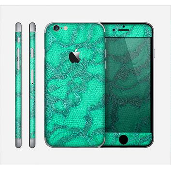 The Bright Green Textile Lace Skin for the Apple iPhone 6